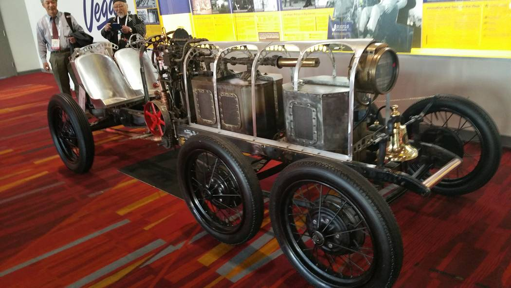 Stan Hanel A-Steam by Jimmy Built uses two propane gas burners to heat water inside a boiler that drives a two-cylinder steam engine to propel this custom car.