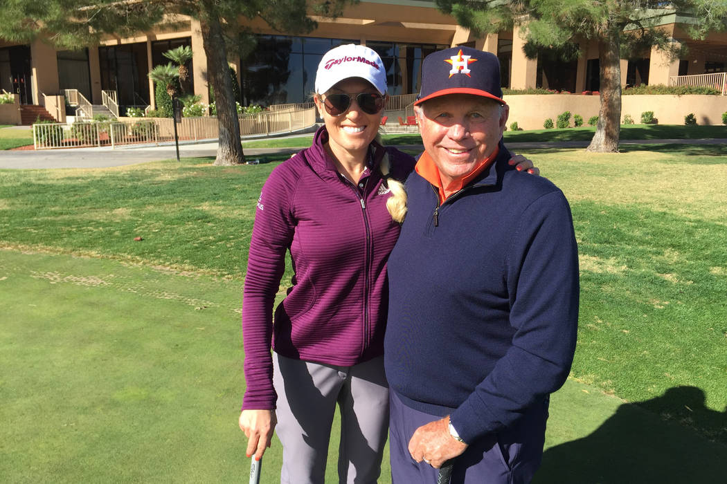 Natalie Gulbis, who hosted her annual charity tournament at Spanish Trail on Tuesday to benefit the Boys and Girls Clubs of Southern Nevada, has worked with swing coach Butch Harmon for 17 years a ...