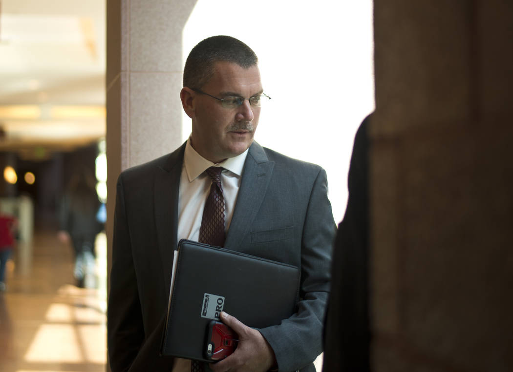 Shawn Gerstenberger, Dean of the School of Community Health Science and Interim Dean of the UNLV School of Medicine, is seen after court proceedings regarding a lawsuit filed on behalf of a 4-year ...