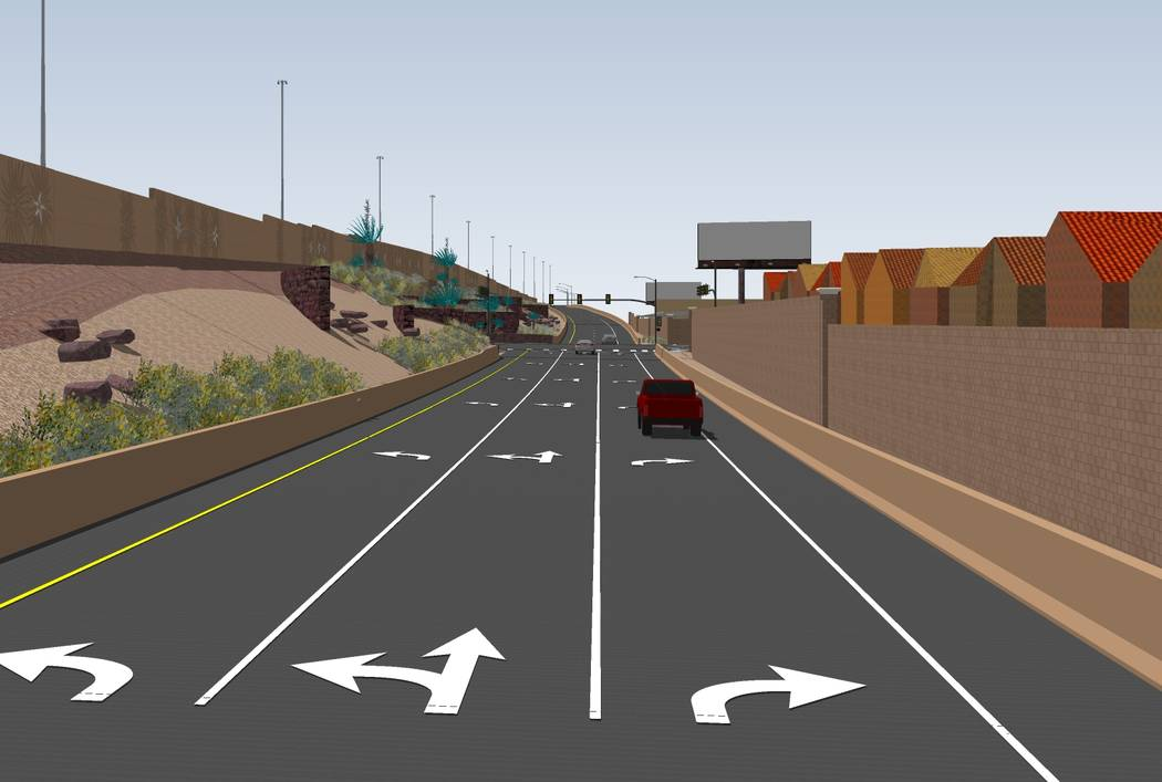 Construction starts Nov. 30 on a $33.7 million interchange at Starr Avenue and Interstate 15. Rendering by Nevada Department of Transportation.