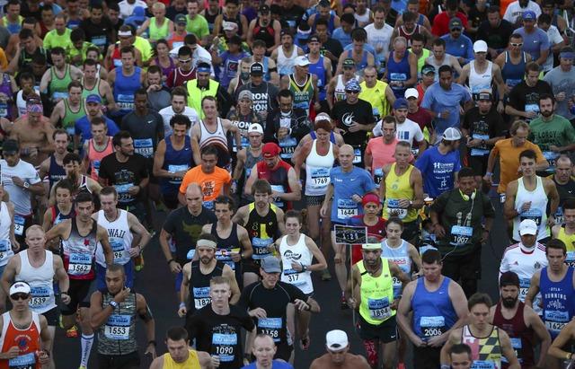 The Geico Las Vegas Rock 'n' Roll Marathon begins Sunday, Nov. 13, 2016, on the Las Vegas Strip. (Chase Stevens/Las Vegas News Bureau)