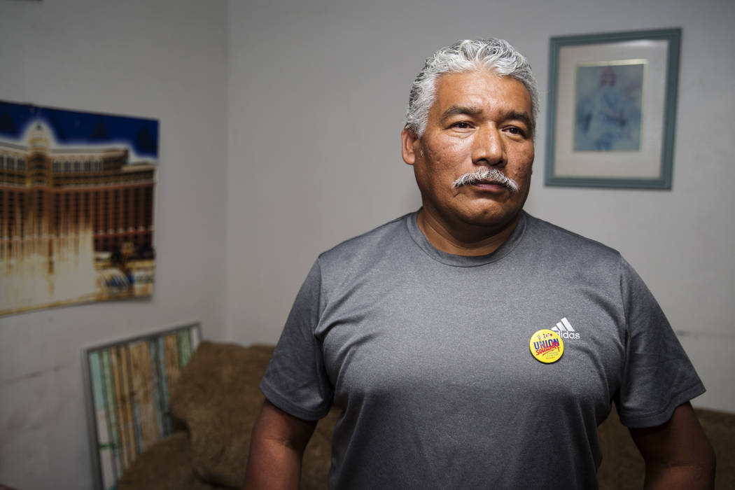 Victor Mora, a temporary protected status recipient from El Salvador, in his North Las Vegas home, Tuesday, Nov. 7, 2017. Erik Verduzco Las Vegas Review-Journal @Erik_Verduzco