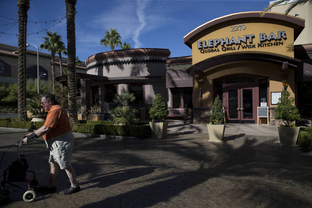 Elephant Bar at The District at Green Valley Ranch in Henderson, Wednesday, Nov. 8, 2017. Elephant Bar has filed for bankruptcy in a Las Vegas court. Erik Verduzco Las Vegas Review-Journal @Erik_V ...