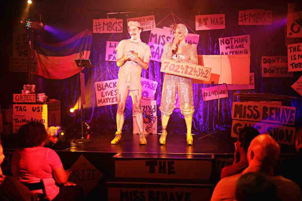 audience uses cellphones in the miss behave game show las vegas