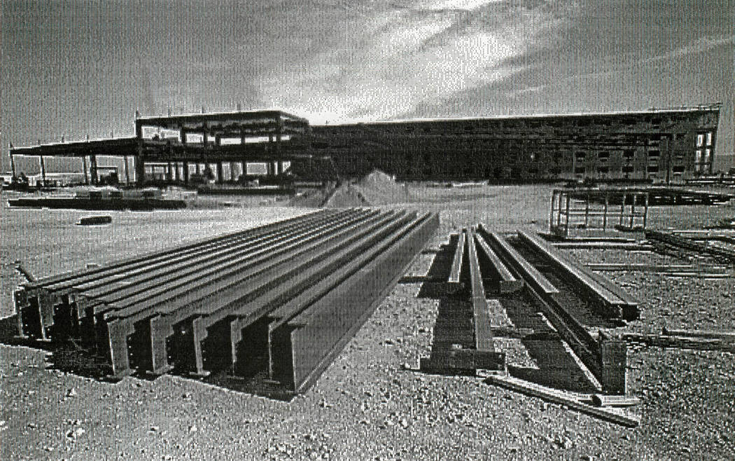 Construction of Boomtown Casino and Hotel is pictured on Dec. 8, 1993. (Gary Thompson/Las Vegas Review-Journal)
