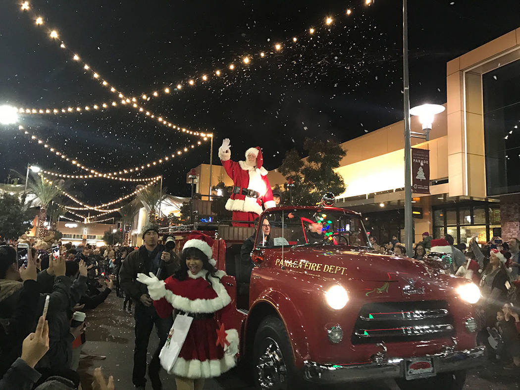The annual holiday parade returns to Downtown Summerlin on Nov. 17 and runs weekends throughout November and December and then nightly from Dec. 15-24. (Summerlin)