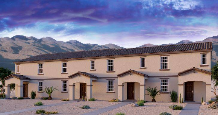 Beazer Homes is expanding its town home project, Cliffs at Dover, which will be adjacent to Nellis Air Force Base. (Beazer Homes)
