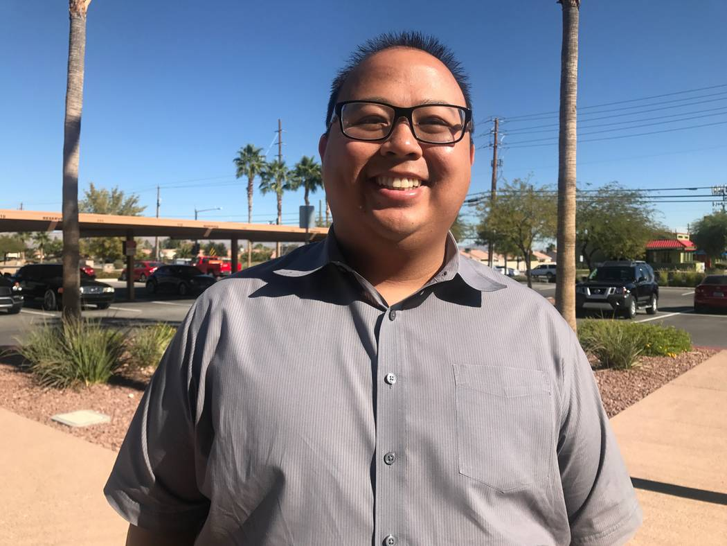 Elevate Las Vegas executive director Charles Javier poses for a portrait on November 7, 2017 at their North Las Vegas office. (Kailyn Brown/View) @KailynHype