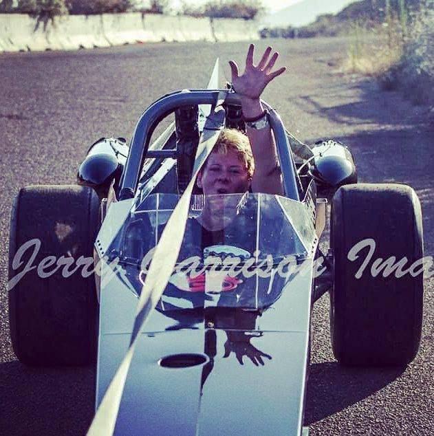 Shelly Segal in her jet powered car known the FireStarter. (Courtesy of Shelly Segal)