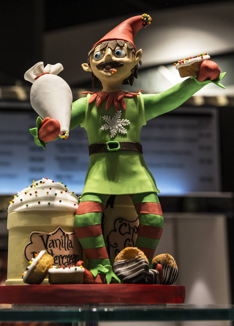 Chocolate elves line the walls at Jean Philippe Patisserie on Thursday, Nov. 9, 2017, at The Aria hotel-casino, in Las Vegas. Benjamin Hager Las Vegas Review-Journal @benjaminhphoto