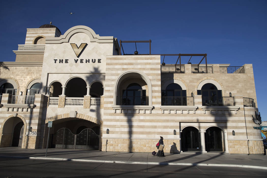 The Venue Las Vegas, at the intersection of Fremont Street and N. 8th Street, in Las Vegas, Thursday, Nov. 9, 2017. Erik Verduzco Las Vegas Review-Journal @Erik_Verduzco