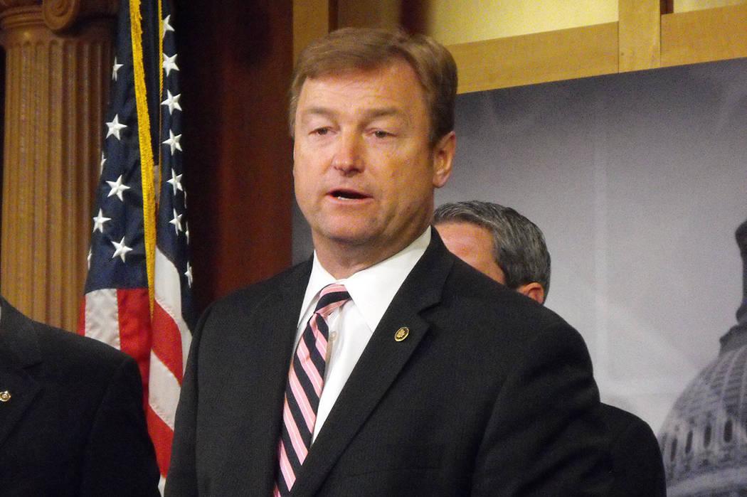 Sen. Dean Heller, R-Nev., with Sen. Joe Manchin, D-W.Va., introduced a bipartisan bill on Thursday aimed at changing how the U.S. Department of Veterans Affairs handles medical malpractice reporti ...