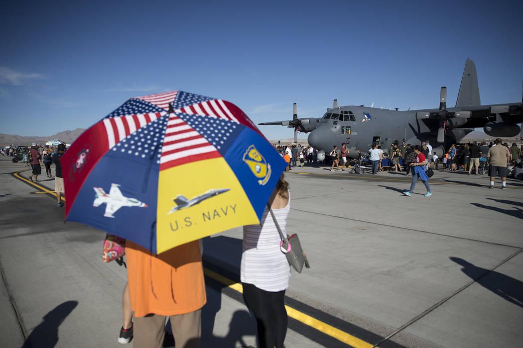 People attend Aviation Nation at Nellis Air Force Base in Las Vegas, Saturday, Nov. 11, 2017. Erik Verduzco Las Vegas Review-Journal @Erik_Verduzco