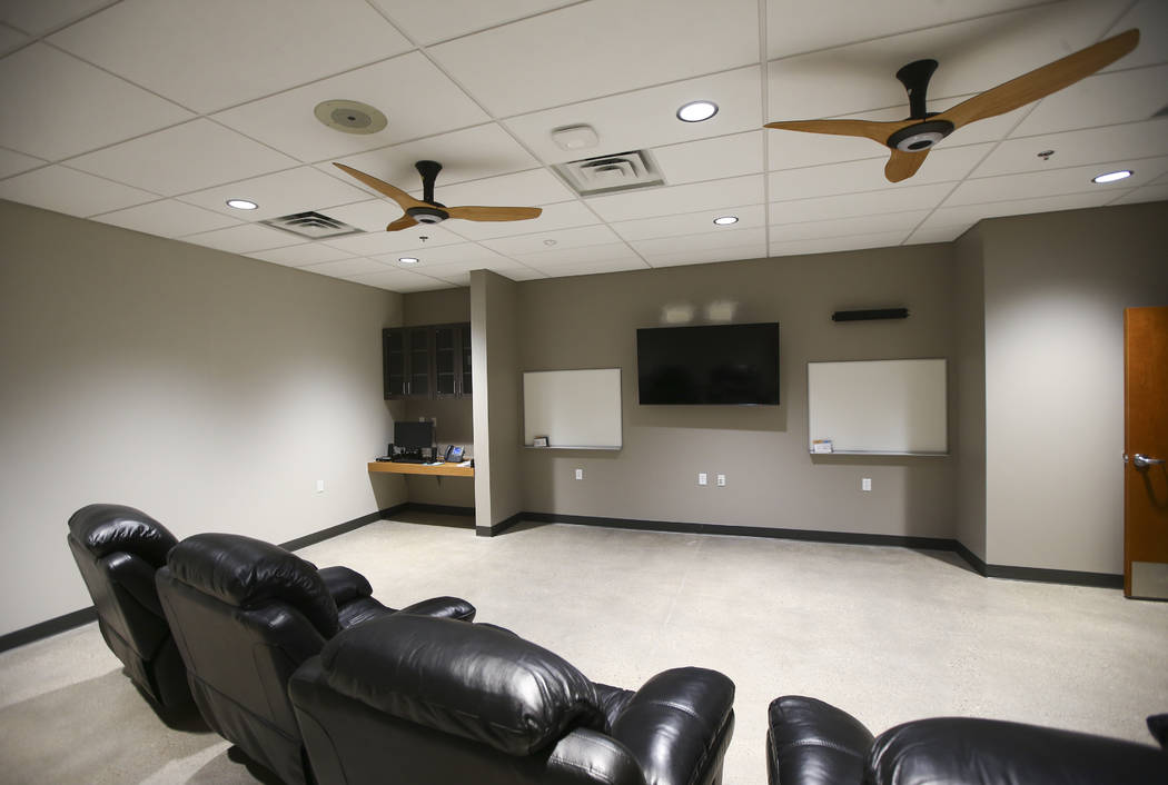 The rehab room during a tour of Fire Station 91 in Henderson on Friday, Nov. 10, 2017. The new facility is the 10th fire station in Henderson, serving the Inspirada and Medeira Canyon areas of the ...