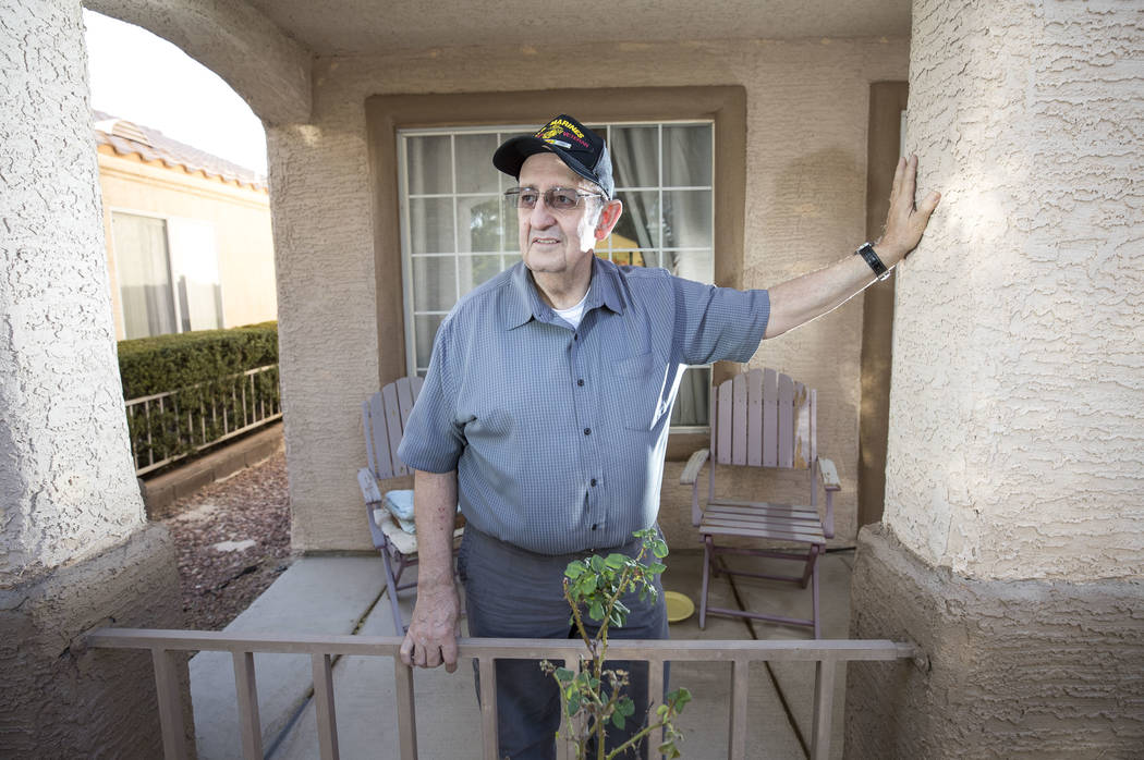 North Las Vegas resident and retired United States Marine Dave Steadmon poses at his home, Friday, Nov. 10, 2017. Richard Brian Las Vegas Review-Journal @vegasphotograph