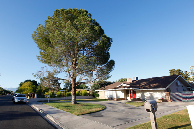 A for sale sign is seen at a Las Vegas home in this file photo. (Chase Stevens/Las Vegas Business Press)