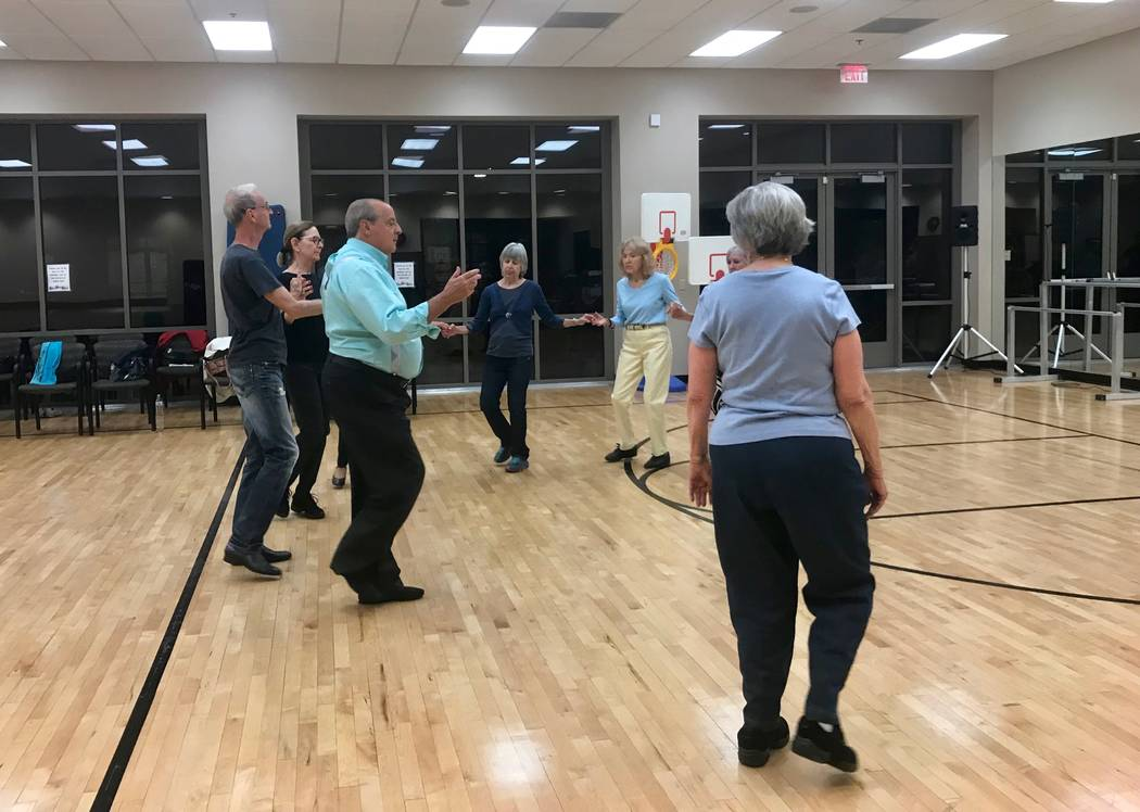 "The Ethnic Express dance group practices ""Ajšino Oro"" a folk dance from Albania and Macedonia. Richard Killian and wife Donna Killian started Ethnic Express in 1978. (Madelyn Reese/View) @Madelyn ..."
