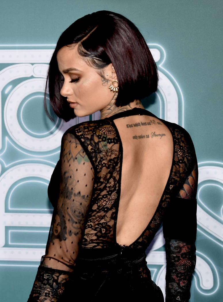 Singer/songwriter and dancer Kehlani on the Soul Train Awards 2017 red carpet at The Orleans. (Glenn Pinkerton Las Vegas News Bureau)
