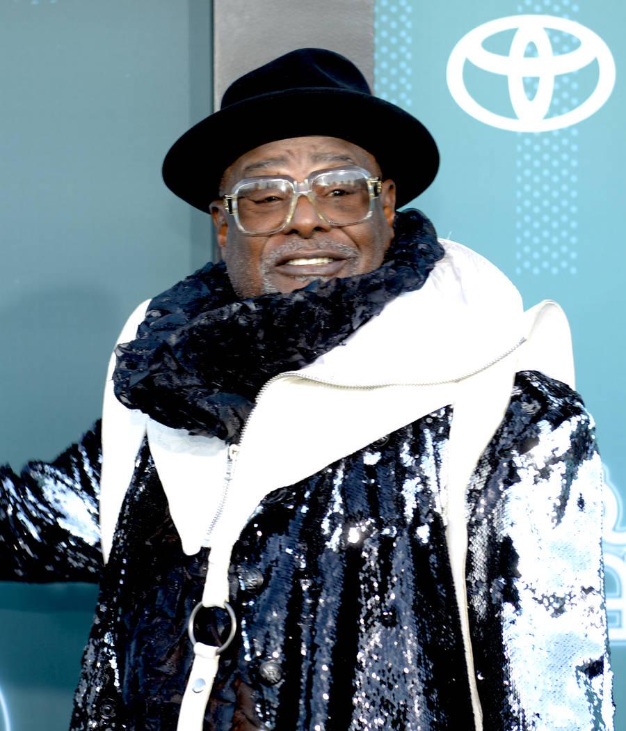 Funk singer/songwriter George Clinton at the Soul Train Awards 2017. (Glenn Pinkerton Las Vegas News Bureau)