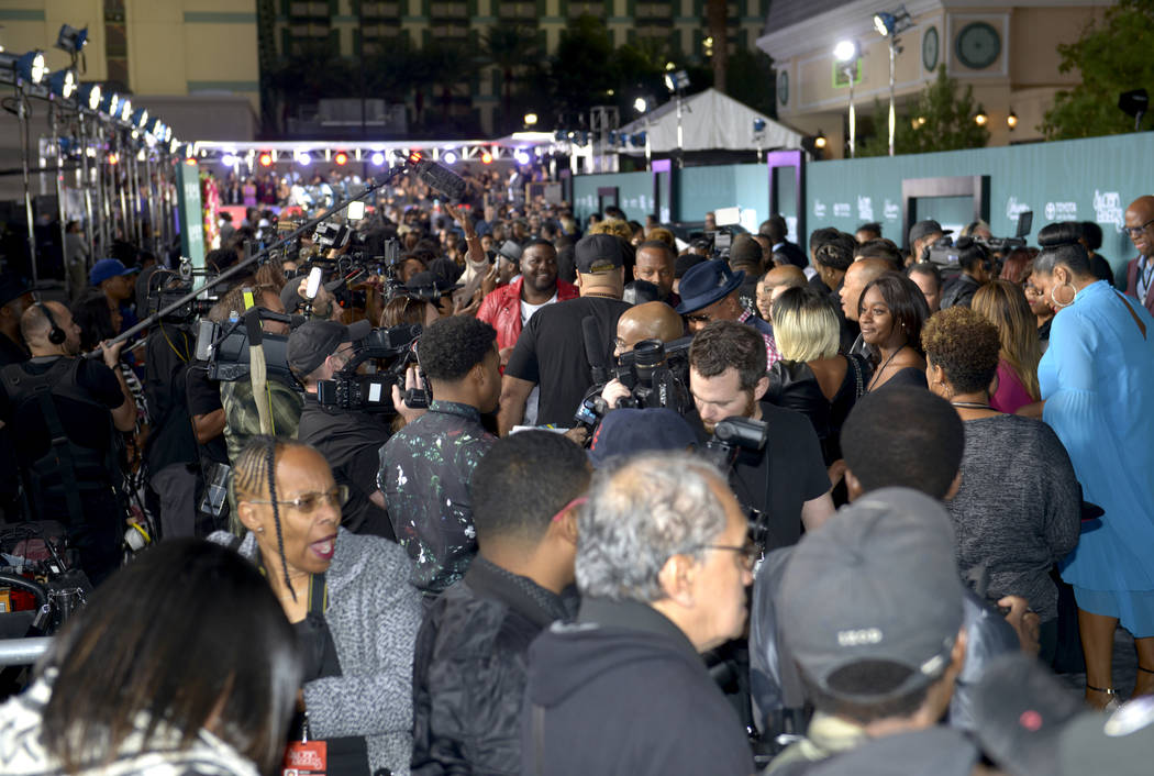 Soul Train Awards 2017 red carpet at The Orleans on Nov. 5. (Glenn Pinkerton Las Vegas News Bureau)