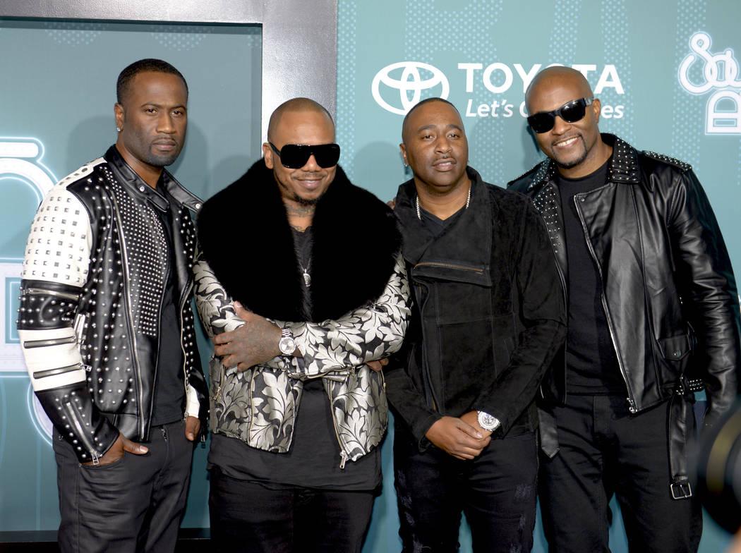 R&B quartet 112 on the Soul Train Awards 2017 red carpet at The Orleans. (Glenn Pinkerton Las Vegas News Bureau)