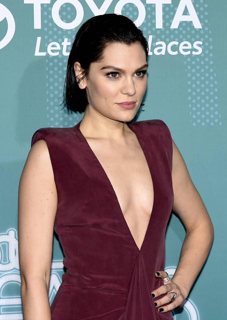 English singer-songwriter Jessie J on the Train Awards 2017 red carpet. (Glenn Pinkerton Las Vegas News Bureau)