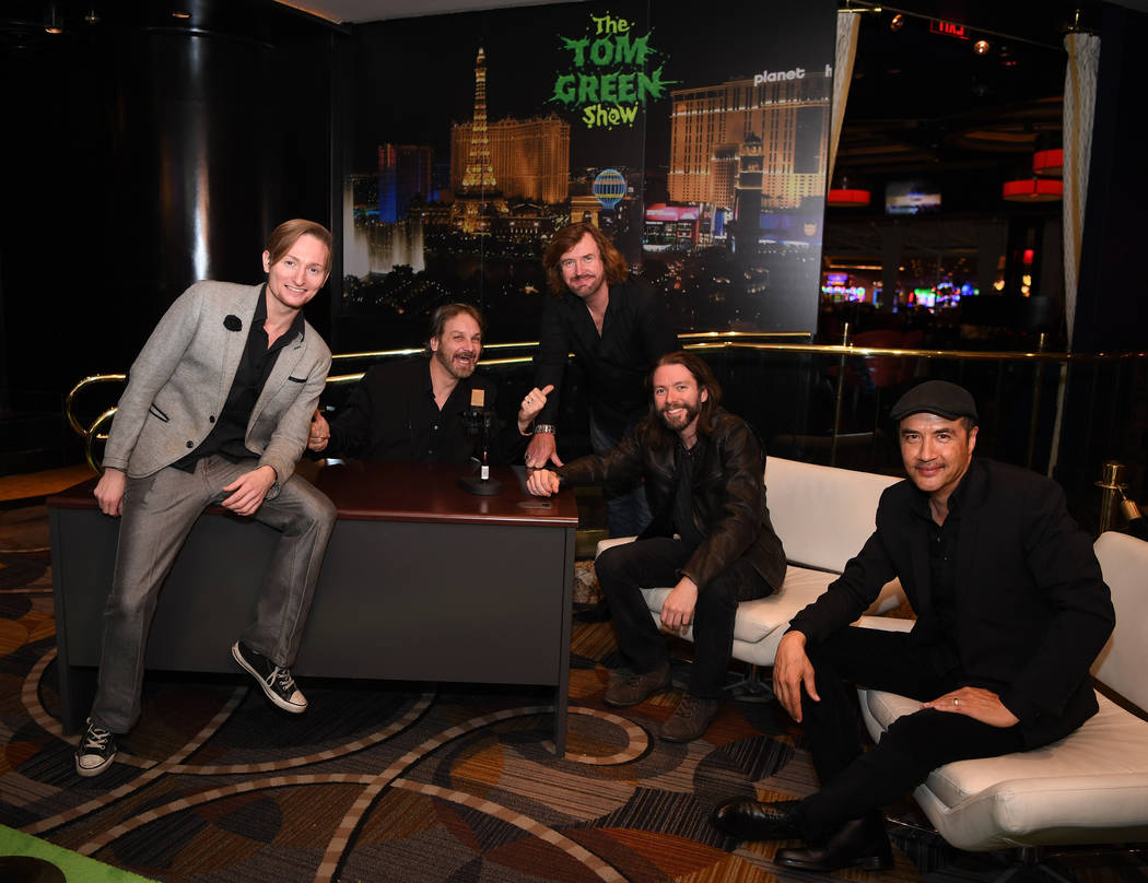 Vegas celebrities came out for the Nov. 8 opening night of Tom Green's show at Bally's. (Denise Truscello)