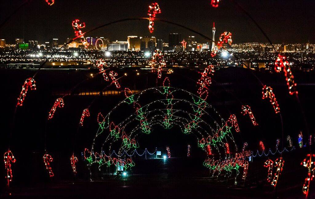 The Glittering Lights of Las Vegas at the Motor Speedway kicks off the holidays. (Courtesy)