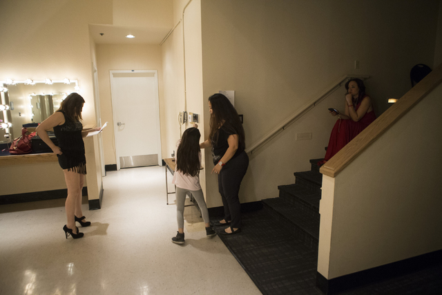 Performers get ready backstage during a dress rehearsal at the Winchester Cultural Center theater on Thursday, March 10, 2016, in Las Vegas. Erik Verduzco/Las Vegas Review-Journal Follow @Erik_Ver ...