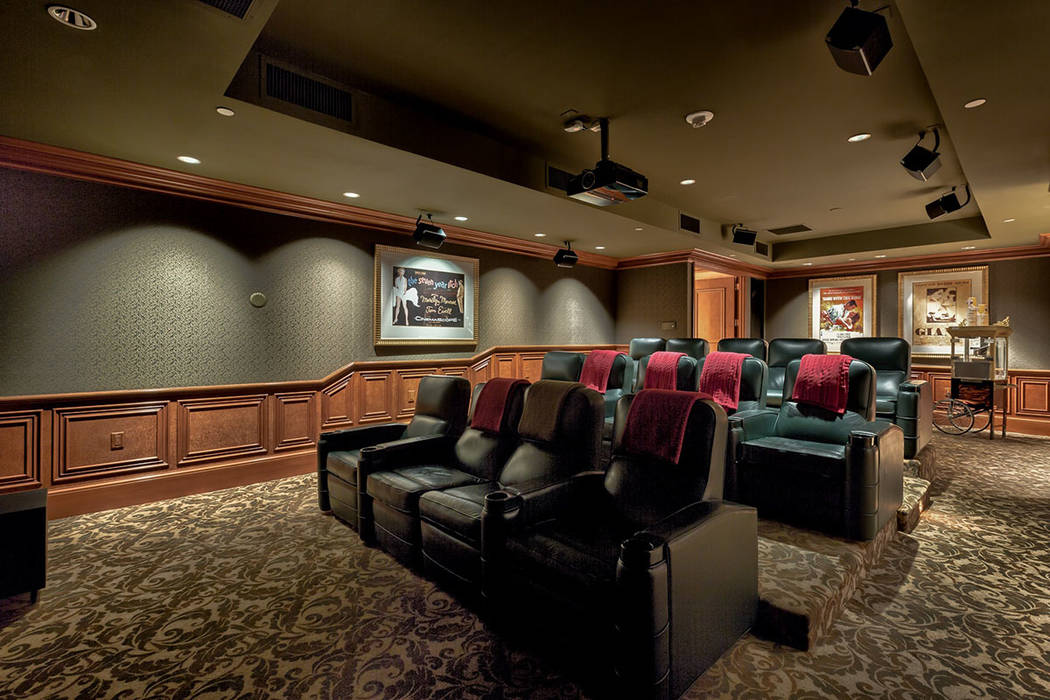 The common area also has a stocked theater.  (Synergy|Sotheby's International Realty)