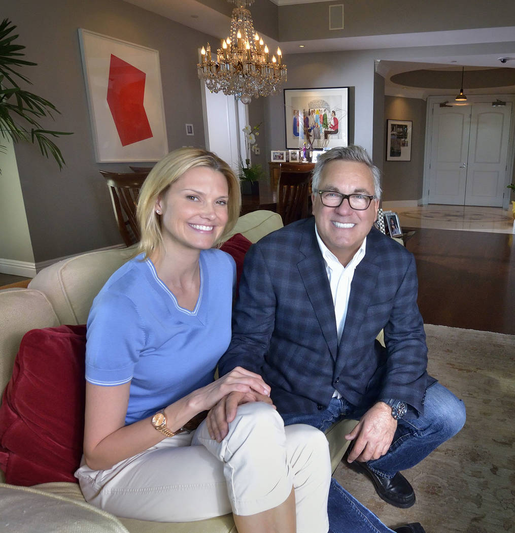 Diane Boyle and Rich Worthington live in two condos in Park Towers at Hughes Center at 1 Hughes Center Drive. Worthington is the president of Molasky Cos., which helped developed the high-rise tha ...