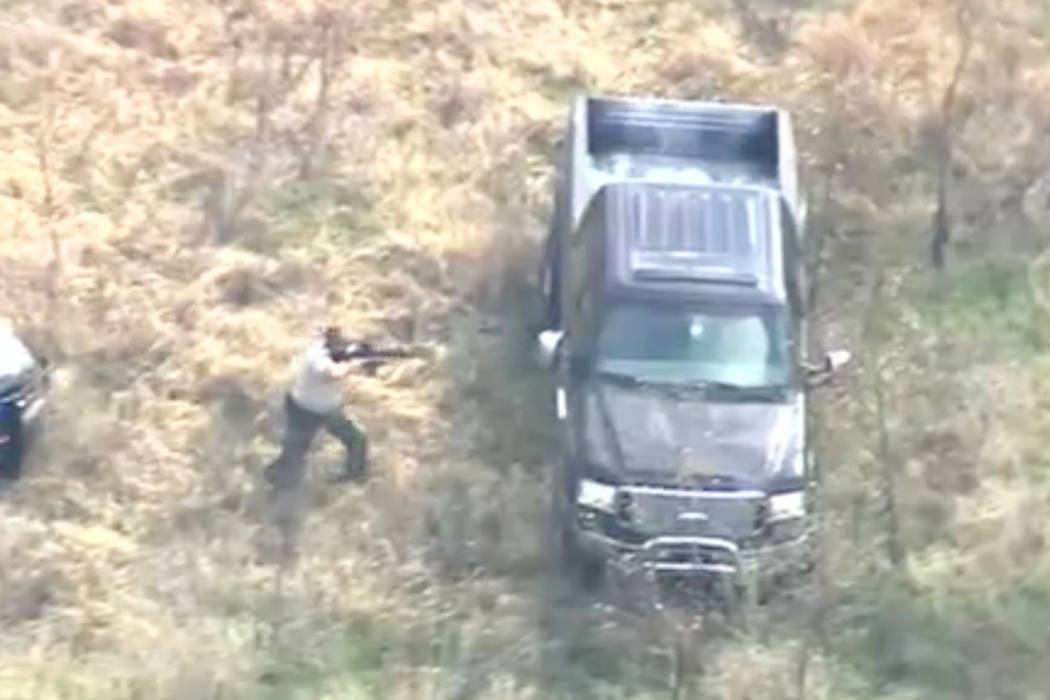 A man driving a stolen pickup was shot with a stun gun and arrested in Oklahoma after a 2½-hour police chase, part of which he streamed live on Facebook. (AP)