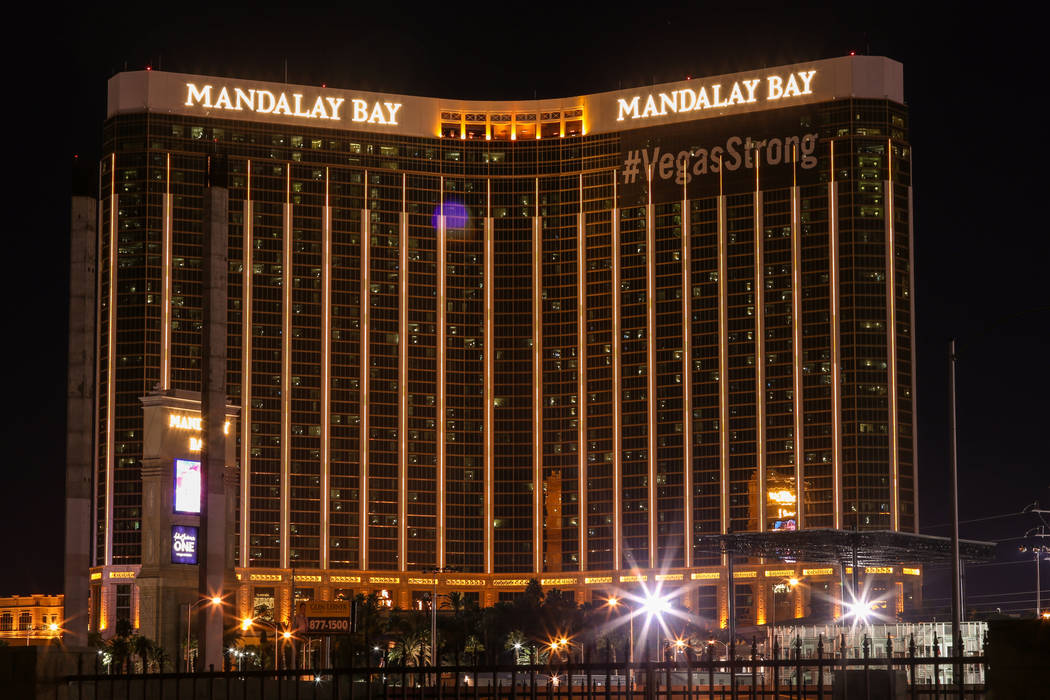 The Mandalay Bay in Las Vegas, Tuesday, Nov. 7, 2017. Joel Angel Juarez Las Vegas Review-Journal @jajuarezphoto