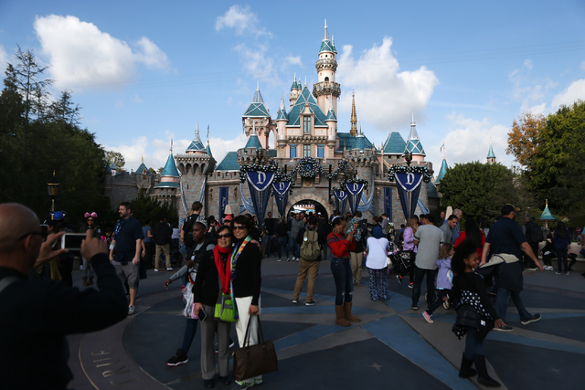 Sleeping Beauty Castle at Disneyland is seen on Wednesday, Dec. 23, 2015 in Anaheim, Calif. Erik Verduzco/Las Vegas Review-Journal Follow @Erik_Verduzco