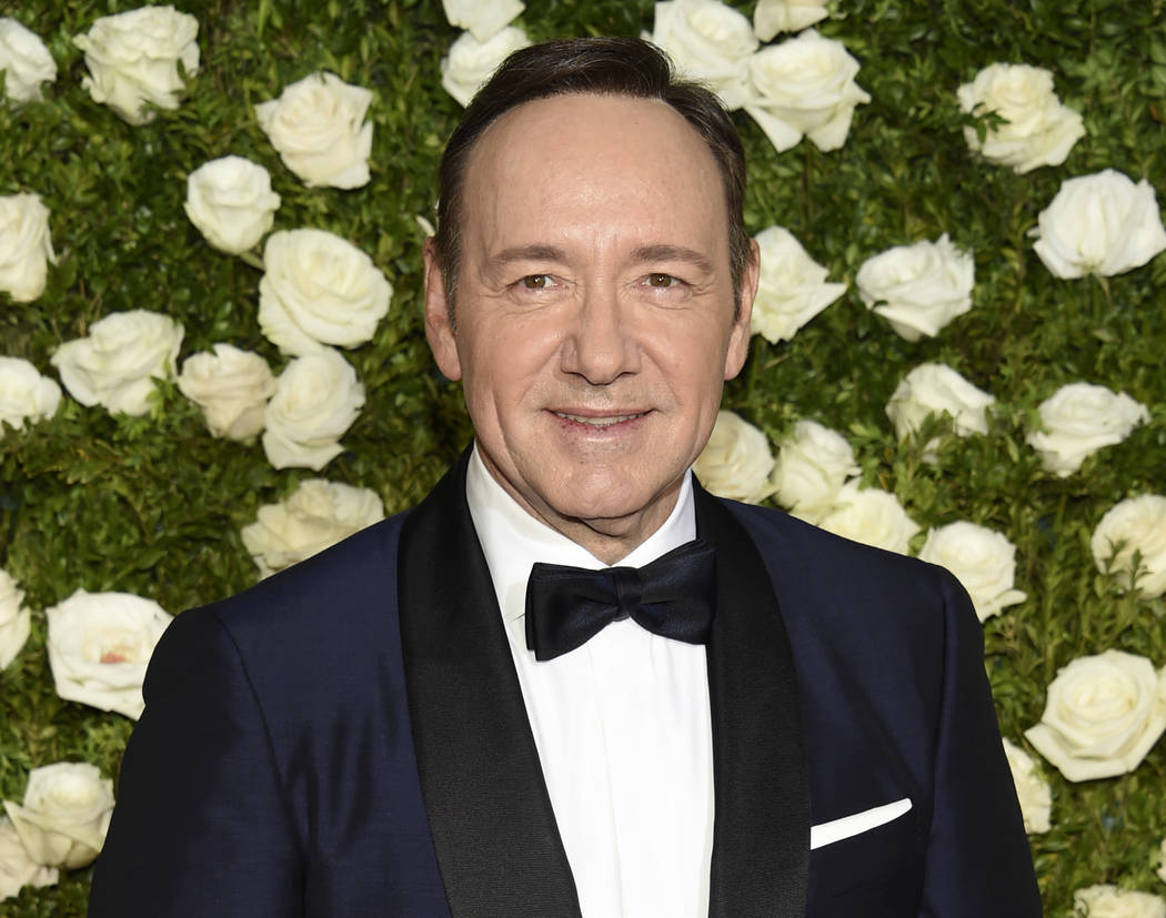 Kevin Spacey arrives at the 71st annual Tony Awards at Radio City Music Hall in New York. (Evan Agostini/Invision/AP, File)