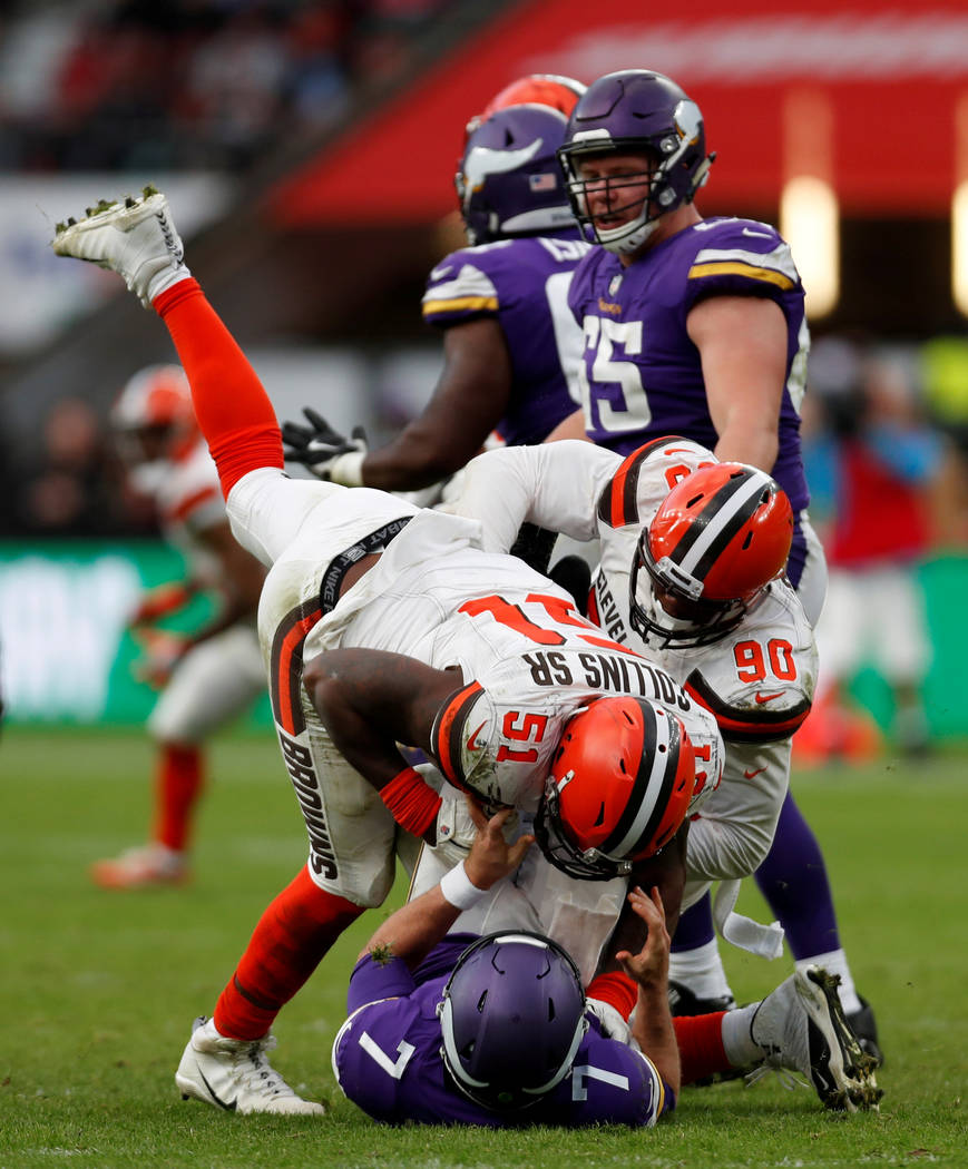 REFILE - CORRECTING EVENT DETAILS AND BYLINE NFL Football - Minnesota Vikings vs Cleveland Browns - NFL International Series - Twickenham Stadium, London, Britain - October 29, 2017  Minnesota Vik ...