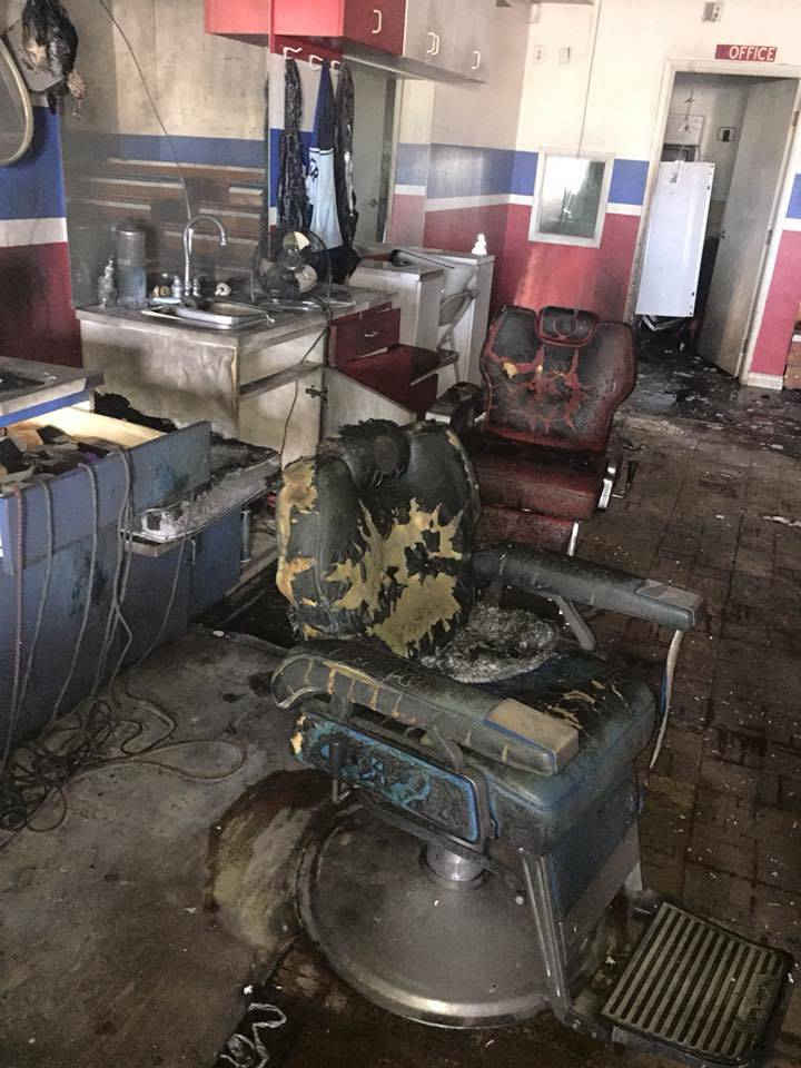 "Classic Cuts was shut down after a fire on Oct. 30 at 1445 W. Alexander Rd #105. (Courtesy of Calvin ""Tito"" Hudson)"