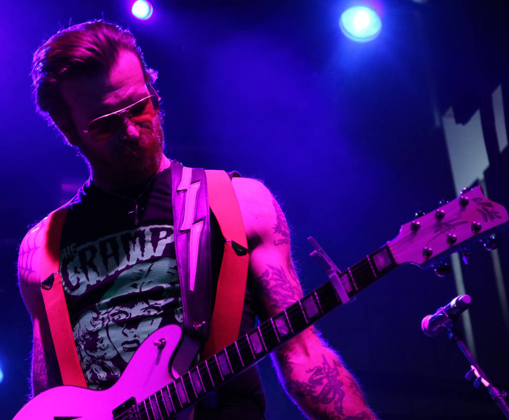 Jesse Hughes of Eagles of Death Metal performs at Las Rageous, a hard rock music festival in downtown Las Vegas, Saturday, April 22, 2017. Gabriella Benavidez Las Vegas Review-Journal @gabbydeebee