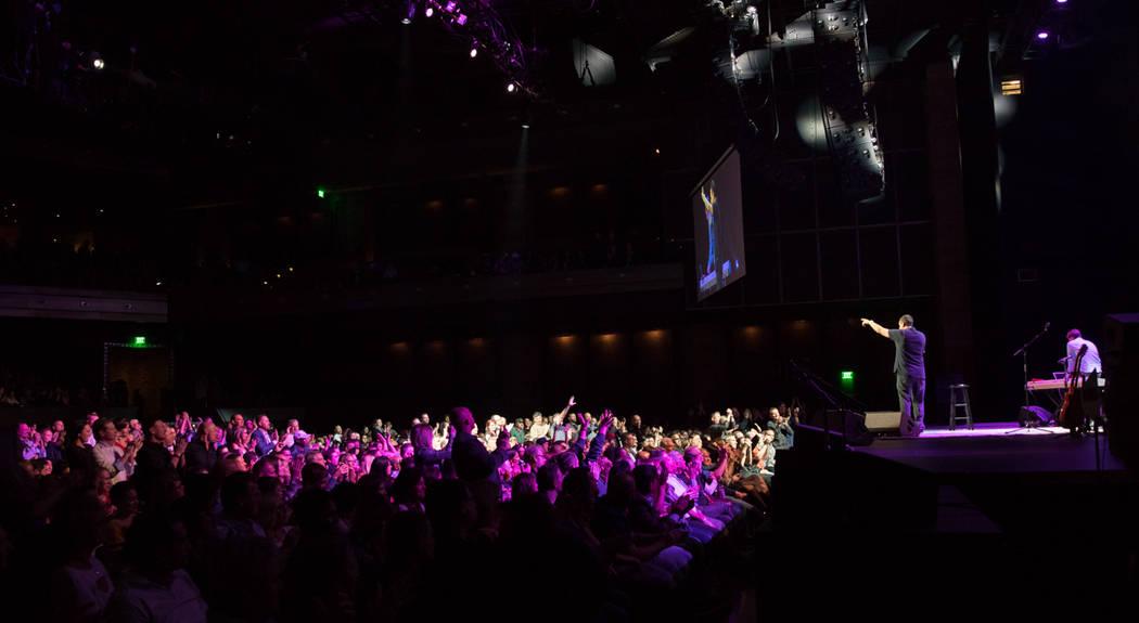 Musician and comedian Adam Sandler became The Cosmopolitan of Las Vegas' exclusive resident comedic performer with his premiere on Friday (Erik Kabik)