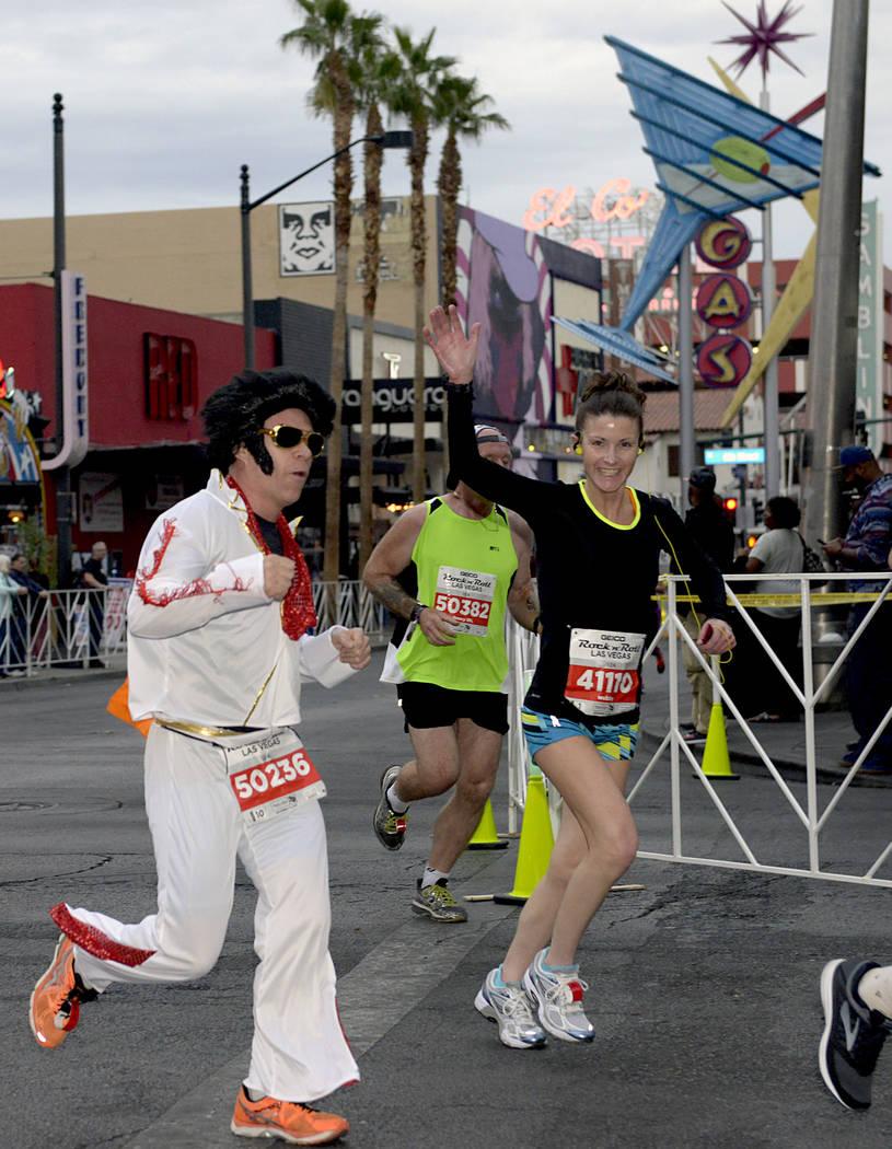 The GEICO Rock 'n' Roll Las Vegas Marathon hits the streets of Las Vegas on Nov. 12. (Glenn Pinkerton Las Vegas News Bureau)