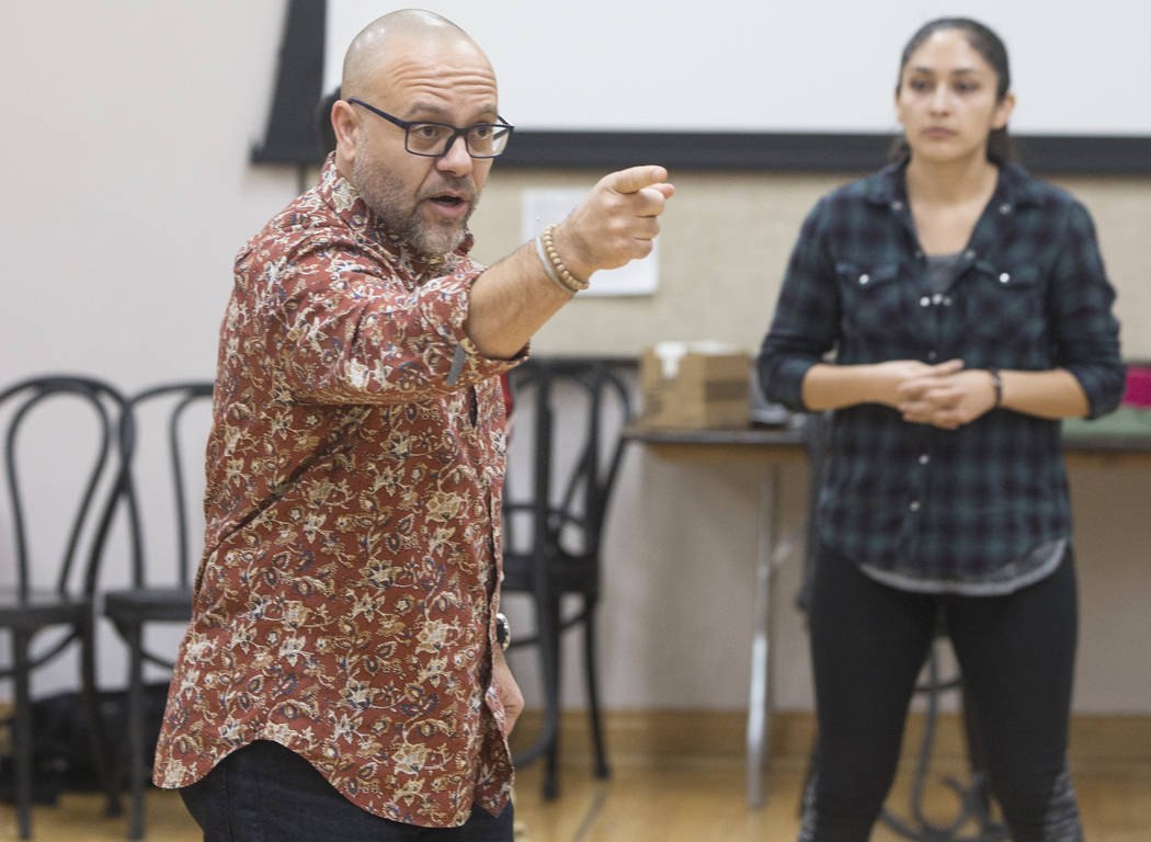 "Director Christopher Edwards leads rehearsal of the Nevada Conservatory Theatre's ""A Christmas Carol,"" offering a contemporary twist on the original Charles Dickens' Victorian-era tale on Tuesday, ..."
