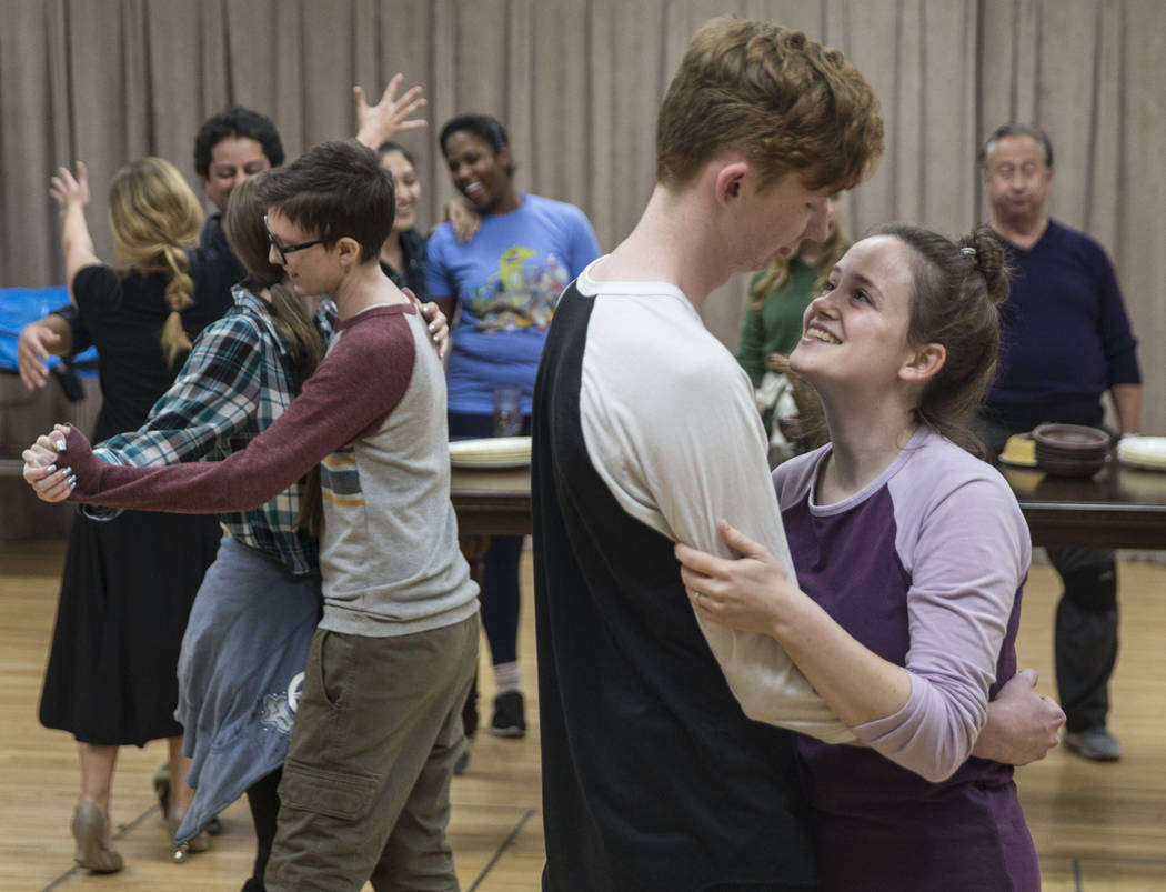 "The Nevada Conservatory Theatre rehearses ""A Christmas Carol,"" offering a contemporary twist on the original Charles Dickens' Victorian-era tale on Tuesday, Nov. 14, 2017, at the Alta Ham Fine Art ..."