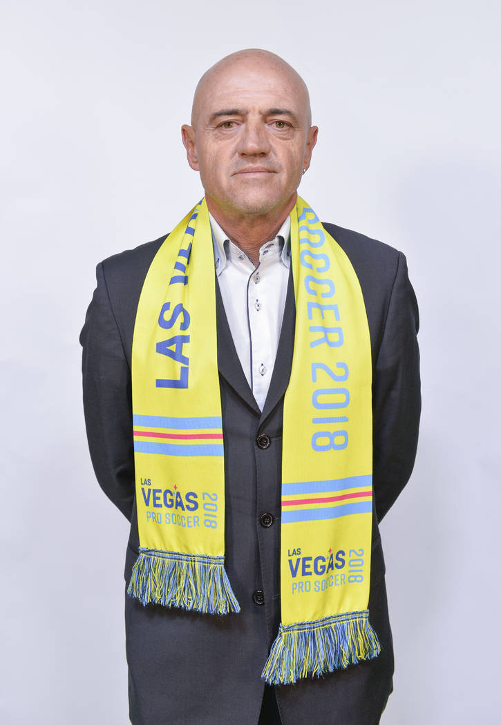 Las Vegas Lights FC coach José Luis Sánchez Solá. (Idris Erba/Las Vegas Lights FC)