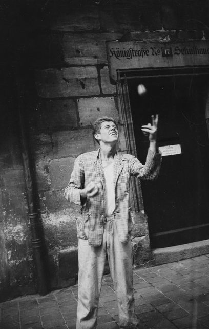 Former U.S. President John F. Kennedy juggles during his trip to Europe, in Nuremberg, Germany in this handout image taken on August 20, 1937. REUTERS/John F. Kennedy Presidential Library