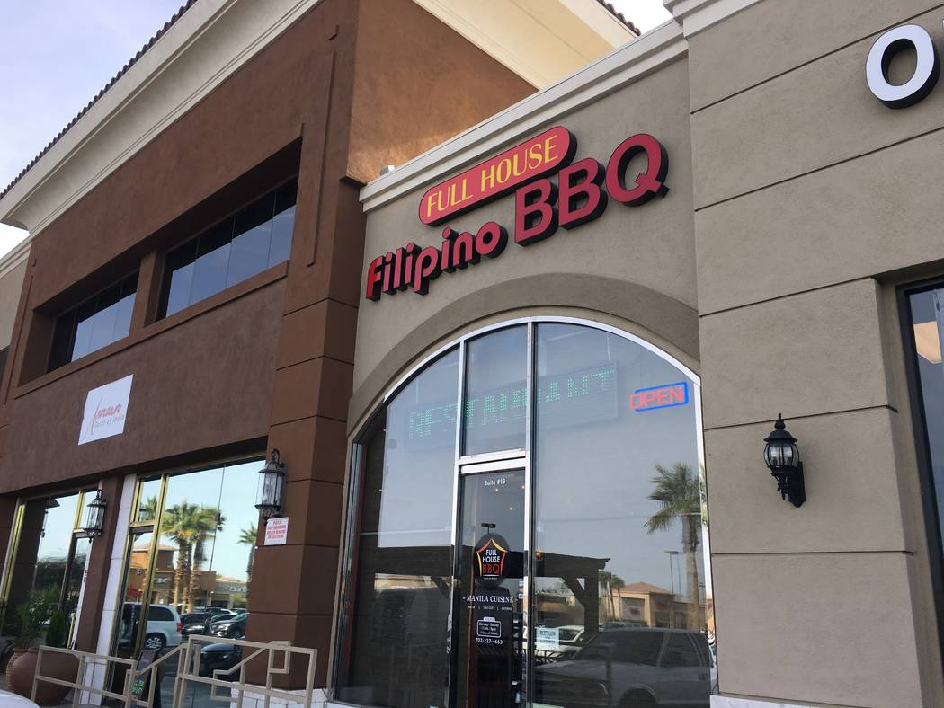 The front of Full House Filipino Barbecue, located near E. Silverado Ranch Boulevard and S. Maryland Parkway. (Diego Mendoza-Moyers/View) @dmendozamoyers