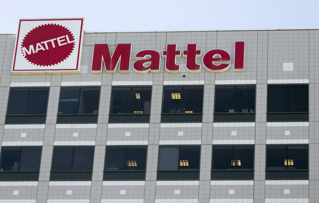 This Wednesday, Feb. 24, 2016, file photo, shows a building on the campus of toymaker Mattel, Inc., in El Segundo, Calif. Shares of Mattel soared in after-hours trading Friday, Nov. 10, 2017, afte ...