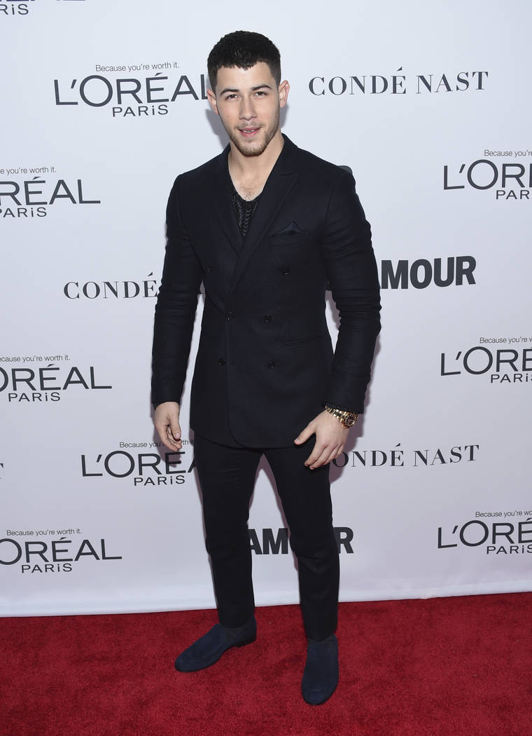 Nick Jonas attends the 2017 Glamour Women of the Year Awards at Kings Theatre on Monday, Nov. 13, 2017, in New York. (Photo by Evan Agostini/Invision/AP)
