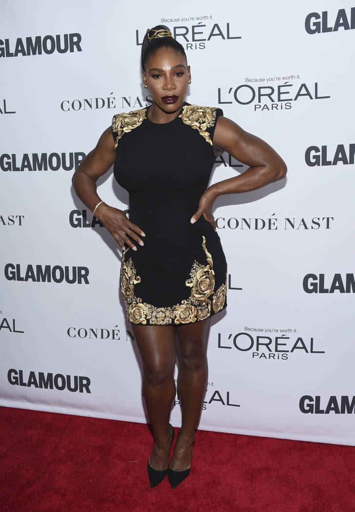 Serena Williams attends the 2017 Glamour Women of the Year Awards at Kings Theatre on Monday, Nov. 13, 2017, in New York. (Photo by Evan Agostini/Invision/AP)