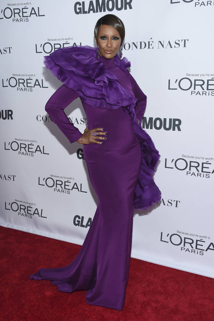 Iman attends the 2017 Glamour Women of the Year Awards at Kings Theatre on Monday, Nov. 13, 2017, in New York. (Photo by Evan Agostini/Invision/AP)