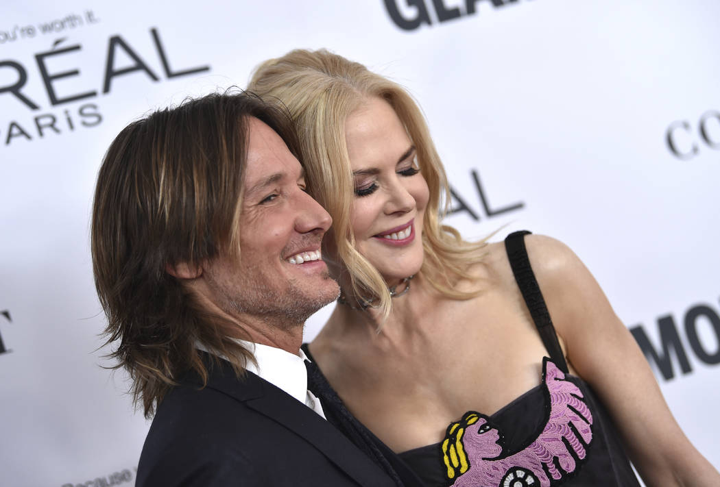 Keith Urban, left, and Nicole Kidman attend the 2017 Glamour Women of the Year Awards at Kings Theatre on Monday, Nov. 13, 2017, in New York. (Photo by Evan Agostini/Invision/AP)